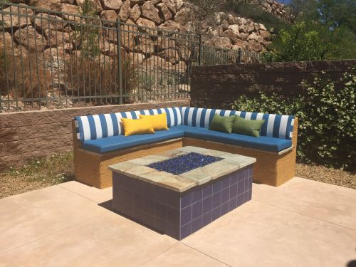 Outdoor Bench With Sunbrella Cushions