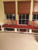 Family Room Window Seat With Sunbrella Cushion