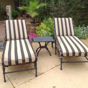 New Sunbrella Chaise Lounge Cushions