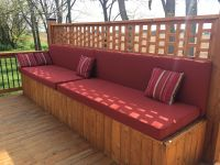 Custom Sunbrella Deck Bench Cushions