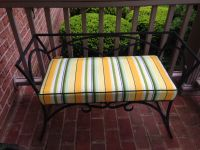 Iron Bench Cushion In Tempotest Stripe