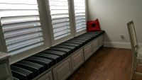 Kitchen Window Seat Cushion With Sunbrella Stripe
