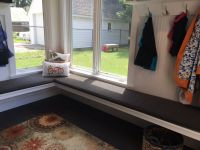 Mudroom Window Seat With Custom Bench Pads