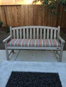 New Striped Outdoor Bench Cushion
