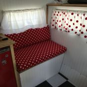 New Seat Cushions In Our Travel Trailer