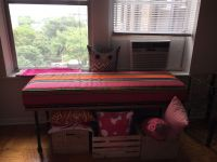 My New Window Seat Table Cushion in Sunbrella