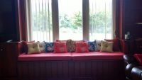 New Window Seat Cushions and Pillows