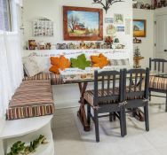 Breakfast Nook Bench Cushions Made With Sunbrella