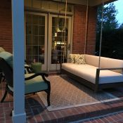 Porch Swing Day Bed With Custom Sunbrella Cushions