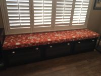 Custom 8' Long Window Seat Cushion