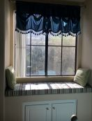Sunbrella Stripe Window Seat Cushion With Buttons