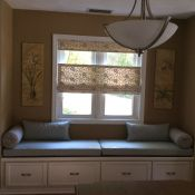 Serene Window Seat With Sunbrella Cushions