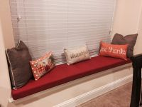 Red Robert Allen Bay Window Seat Cushion