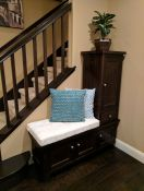 Custom Cushion For Custom-Made Entryway Bench