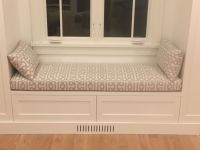 Sunbrella Window Seat Cushion And Lumbar Pillows