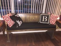 Black Custom Bench Cushion