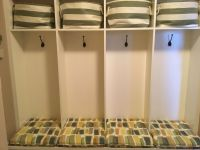 custom seat cushions for mudroom cubbies