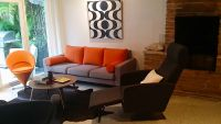 Replacement Orange Sofa Back Cushions and Bolsters