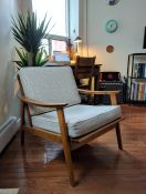 Updated Mid-Century Modern Chair With New Cushions