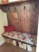Floral Mudroom Bench Cushion
