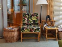 Rattan Chair With Deep Seat And Back Cushions