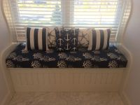 Window Seat Cushion and Pillows in Nautical Motif