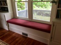 Window Seat Cushion For Custom Built Cabinet