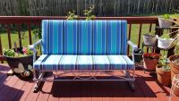 Revitalized Vintage Glider With Sunbrella Cushions