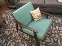 Aqua Mid-Century Chair Replacement Cushions