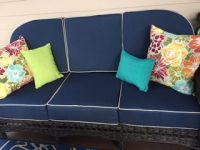 New Sunbrella Wicker Furniture Cushions