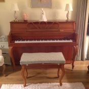 Piano Bench Seat Cushion in Scott Living Fabric