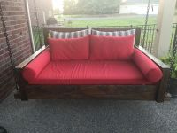 Custom Sunbrella Red Daybed Cushion and Pillows