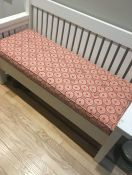Custom Red Bench Cushion in Robert Allen