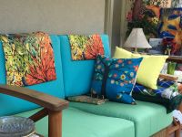 Custom Sun Room Sofa Cushion Set in Sunbrella