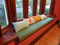 Custom-Shaped Bay Window Cushion