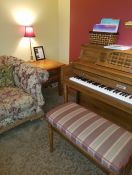 Custom Sunbrella Piano Bench Cushion