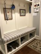 Custom-Shape Mud Room Bench Cushion in Sunbrella