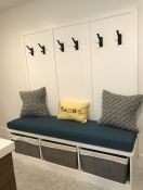 Custom Bench Cushion for Mudroom/Laundry Room