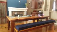 Sunbrella Navy Dining Bench Cushions