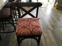 Square Counter Stool Cushions -Robert Allen Fabric