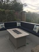 Sunbrella Canvas Navy Outdoor Bench Cushions