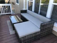 Sunbrella Rain Wicker Porch Cushions