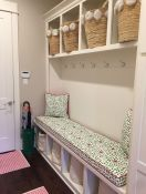 Mudroom Bench Cushion and Pillows