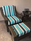 Sunbrella Chair and Ottoman Cushions