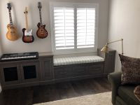 Music Room with Window Seat Cushion