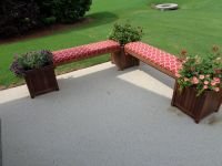 Red Outdoor Bench Cushions