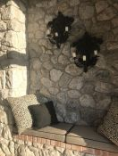 Outdoor Cushions and Pillows for Stone Entryway