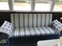 "Our ""New"" Old Porch Glider with Custom Cushions"