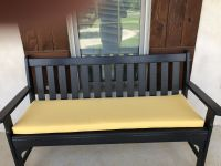 Black and Gold: USM Custom Bench Cushion