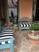 courtyard bench cushions